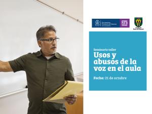 ad curso - Seminario taller usos y abusos de la voz en el aula