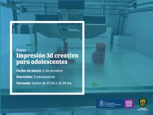 posteo curso - Impresion 3d creativa para adolescentes