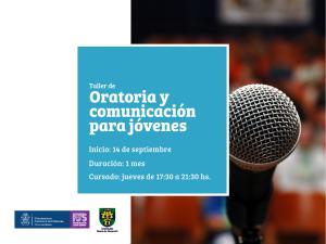 posteo curso -Taller de oratoria y comunicación para jóvenes